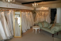 Inside Anna McDonald Bridal Boutique Thame Oxfordshire