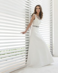 Marylise Wedding Dress with Belt detailing