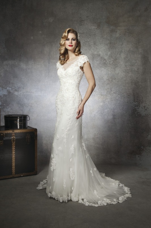Justin Alexander Wedding Dress with sleeve detailing