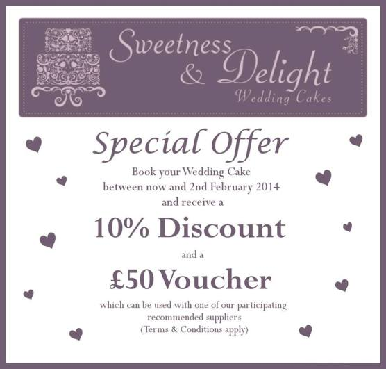 Sweetness and Delight Wedding Cakes Special Offer